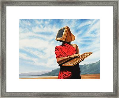 Isolation Communication Framed Print by Charles Luna