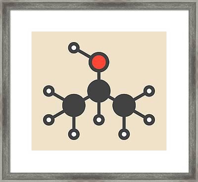 Isopropanol Molecule Framed Print by Molekuul