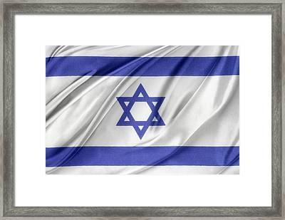 Israeli Flag Framed Print by Les Cunliffe