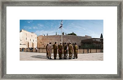 Israeli Soldiers Being Instructed Framed Print by Panoramic Images