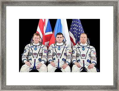 Iss Expedition 46 Crew Framed Print by Nasa