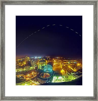 Iss Trail Over The Dali Museum Framed Print by Juan Carlos Casado (starryearth.com)