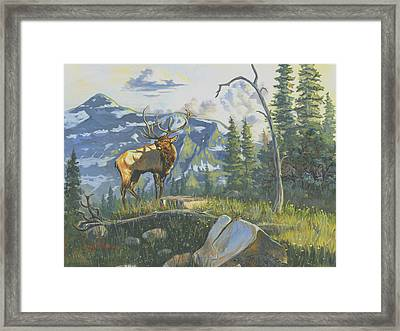 Issuing The Call Framed Print by Jeff Brimley