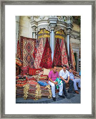Istanbul Rug Merchants Framed Print by Ross Henton