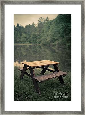 It Came From The Lake Framed Print by Edward Fielding