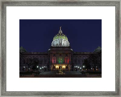 It Came Upon A Midnight Clear Framed Print by Lori Deiter