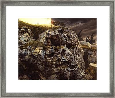 It Is Finished Calvary Jerusalem Framed Print by Graham Braddock
