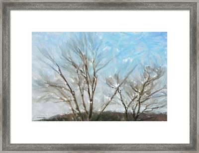 Winter Framed Print by Gerlinde Keating - Galleria GK Keating Associates Inc