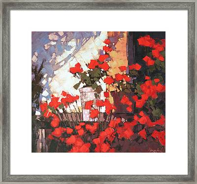 It Is Noon Framed Print by Anastasija Kraineva
