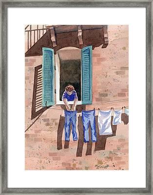 It Must Be Monday Framed Print by Marsha Elliott