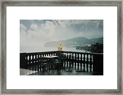 It Rains In Sorrento Framed Print by Diana Angstadt