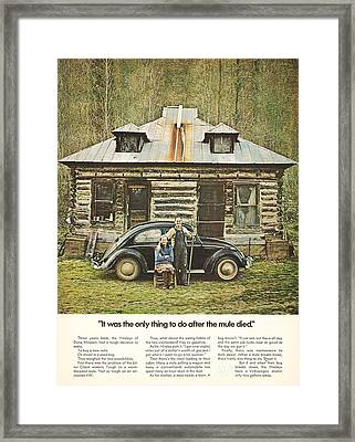 It Was The Only Thing To Do After The Mule Died Framed Print by Georgia Fowler