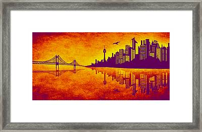 It Was Us That Scorched The Sky Framed Print by Angelina Vick