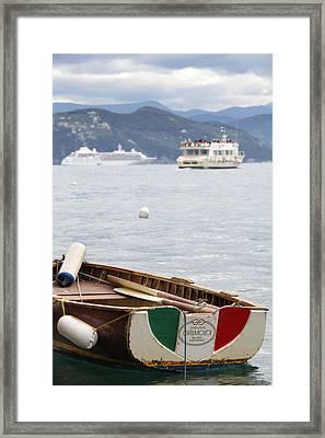 Italian Boats Framed Print by Nancy Ingersoll