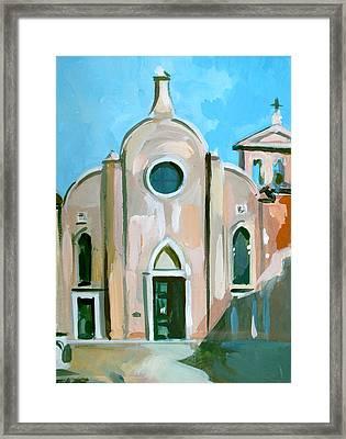 Italian Church Framed Print by Filip Mihail