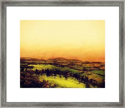 Italian Countryside Framed Print by LC Bailey