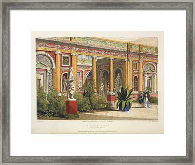 Italian Court Framed Print by British Library