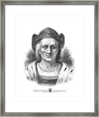 Italian Explorer Christopher Columbus Framed Print by War Is Hell Store