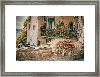 Italian Fishing Cottage Framed Print by Chris Fletcher