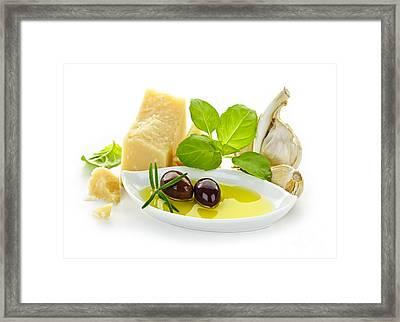 Italian Flavors Framed Print by Elena Elisseeva