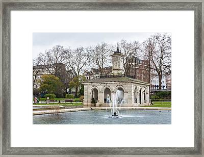 Italian Fountain In London Hyde Park Framed Print by Semmick Photo