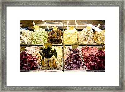 Italian Gelato Ice Cream Yum Framed Print by Mathew Lodge