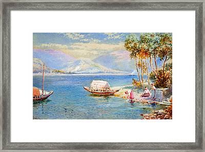 Italian Lake Framed Print by Celestial Images