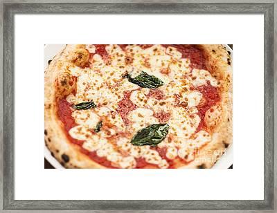 Italian Margarita Pizza Framed Print by Jacek Malipan
