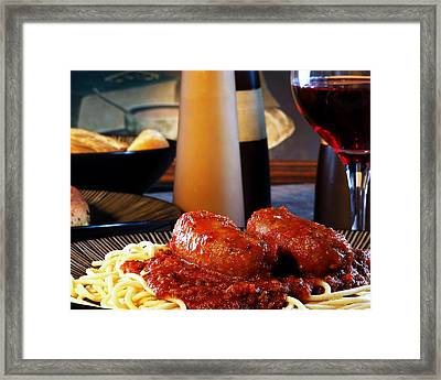 Italian Meal Framed Print by Camille Lopez