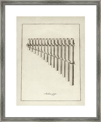 Italian Musical Pipes Framed Print by Middle Temple Library