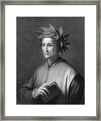 Italian Poet Dante Alighieri Framed Print by Underwood Archives