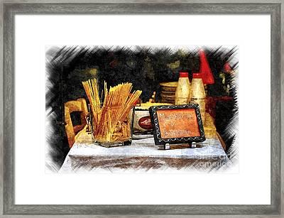Italian Restaurant In Rome Framed Print by Stefano Senise
