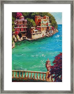 Italian Riviera Framed Print by Santo De Vita