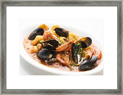 Italian Seafood Stew Framed Print by Jacek Malipan