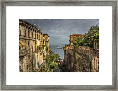 Italian Shipping Route Framed Print by Chris Fletcher