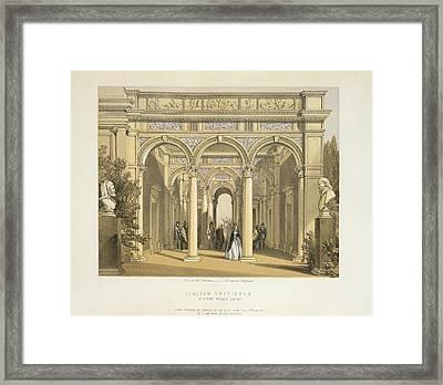 Italian Vestibule Framed Print by British Library