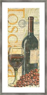 Italian Wine And Grapes Framed Print by Debbie DeWitt