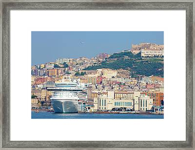Italy, Campania, Napels - Port Framed Print by Panoramic Images