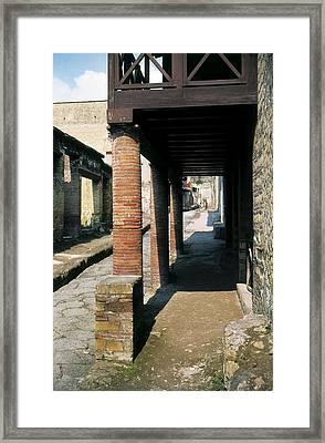 Italy. Campania. Naples. Herculaneum Framed Print by Everett