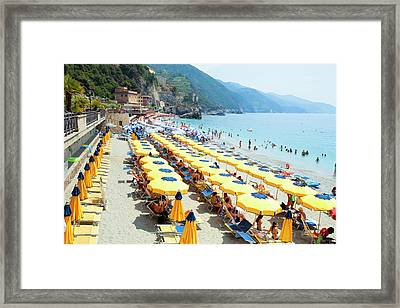 Italy Cinque Terre Monterosso - Framed Print by Panoramic Images