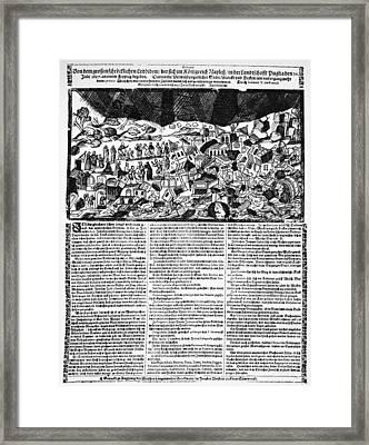 Italy Earthquake, 1627 Framed Print by Granger