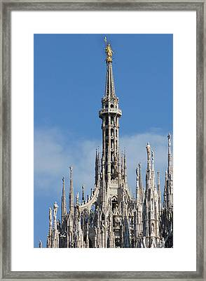 The Spire Of Milan Cathedral Framed Print by Francesco Croce
