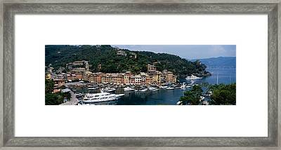 Italy, Portfino Framed Print by Panoramic Images