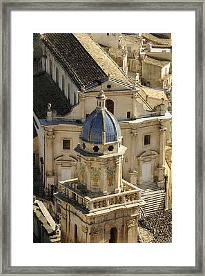 Italy, Sicily, Ibla Ragusa, Santa Maria Framed Print by Tips Images