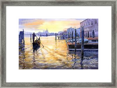 Italy Venice Dawning Framed Print by Yuriy Shevchuk