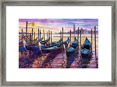 Italy Venice Early Mornings Framed Print by Yuriy Shevchuk