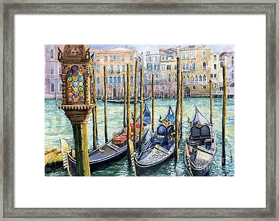 Italy Venice Lamp Framed Print by Yuriy Shevchuk