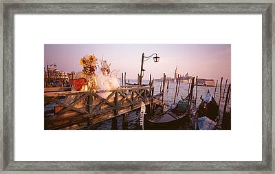 Italy, Venice, St Marks Basin, People Framed Print by Panoramic Images