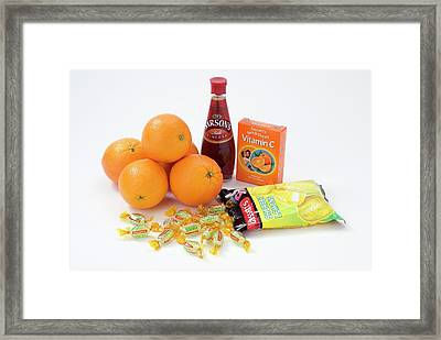 Items Containing Carboxylic Acid Framed Print by Trevor Clifford Photography