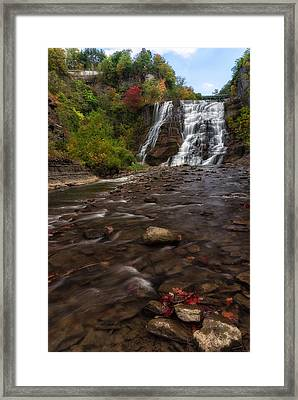 Ithaca Falls 2 Framed Print by Mark Papke